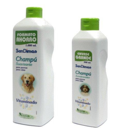 Champu vitaminado 500ML suavizante para Perros SanDimas Buen Olor ✅