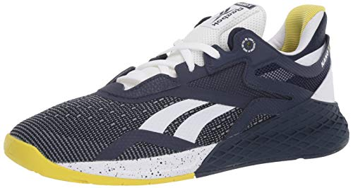 Reebok Men's Nano X Cross Trainer, Vector Navy/White/Chartreuse, 10.5