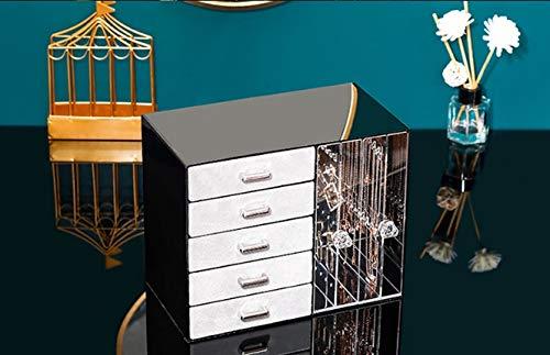 Sksngf Schmuck-Box, vorzügliche Aufbewahrungsbehälter, Simple Storage-Kästen for Ohrringe, Anhänger, Halsketten, etc. Große Kapazität kann sortiert und gespeichert, die beste Lagerung Geschenk for ein
