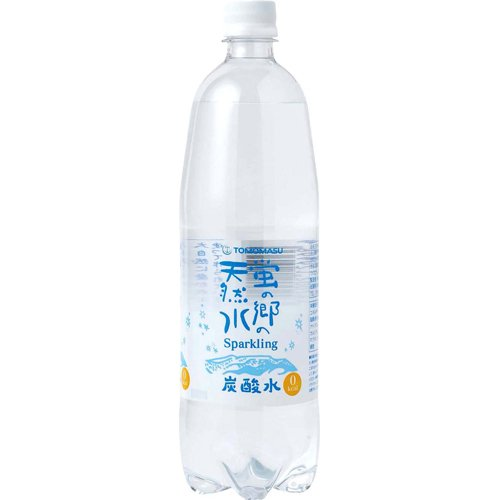 友桝飲料 蛍の郷の天然水 スパークリング 1L×15本
