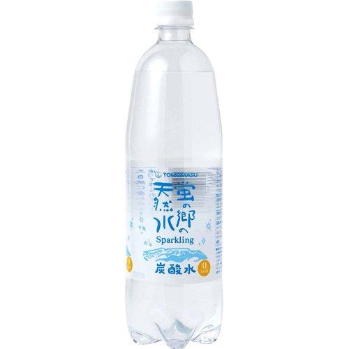 友桝飲料 蛍の郷の天然水 スパークリング 1LX15 [0309]