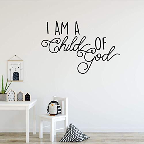 Kjlfow Soy un niño protección del Medio Ambiente niños Pegatina Vinilo habitación decoración de la Pared Pintura Mural Dormitorio Etiqueta de la Pared 57x84 cm