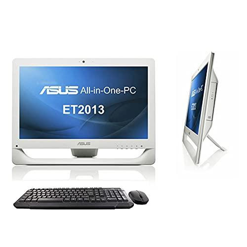 """COMPUTER DESKTOP All in One ASUS ET2013 20"""" Pentium Serial Port RS232 DVD-RW Win 10 SmartWorking WHITE (Ricondizionato) (Con KIT Mouse e Tastiera Wireless, 8GB RAM SSD 480GB)"""