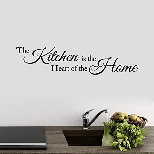 Adesivo Muro Scritte Adesive per Pareti La Cucina Home Decor Vinile Arte Murale Wall Sticker