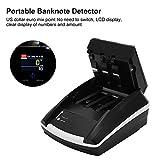 Mini-geldzähler-maschine - Intelligent Tragbarer Banknotendetektor Geldscheinzähler für Gemischte Stückelungen Geldzählmaschine mit LED-anzeige & Fälschungserkennung für Kleine Unternehmen(EU) - 4