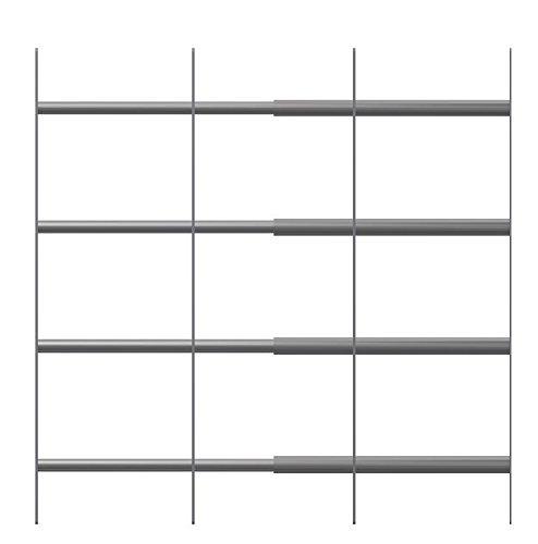 acerto 40521 Fenstergitter Einbruchschutz für außen zum Nachrüsten * Modernes Design * Ausziehbar * Made in Germany | Kellerfenstergitter aus Edelstahl | Fensterschutz mit Befestigungsmaterial