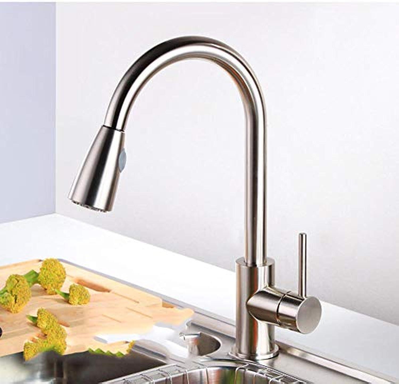 Lnyy Voll Kupfer ausziehbarer Wasserhahn Küchenspüle ziehen heien und kalten Wasserhahn Wasserhahn
