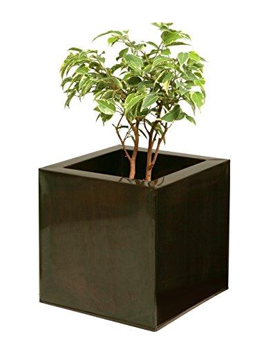 Jardinière cube Bronze foncé – Petit