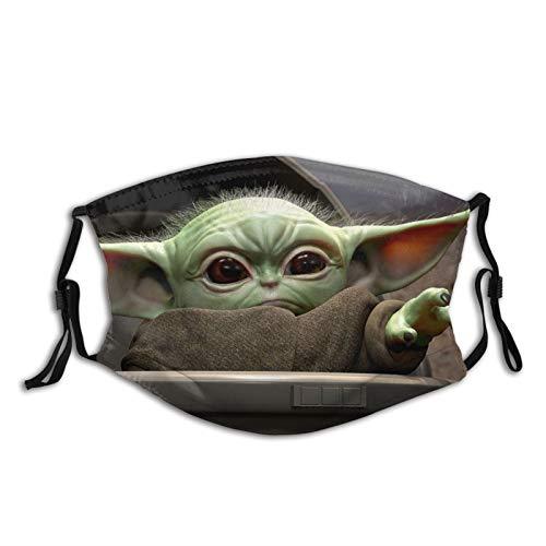 Baby Yoda Star Wars Mund und Nasenschutz Waschbar, Multifunktionstuch Motorrad 22D Motiv Mundschutz Halstuch Winddicht Atmungsaktiv Bandans Halstuch Sommerschal für Herren, Damen, Kinder