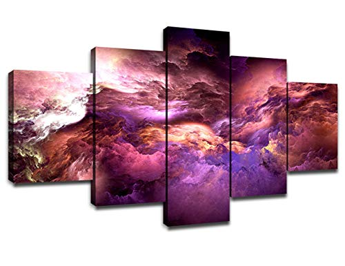 Outer Space Wall Decor for Living Room Modern Home Decoration Framed Canvas...