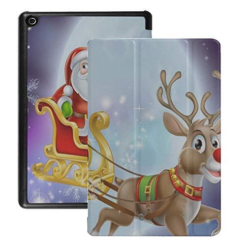 QIYI HD 8 Tablet Hülle Kids Kindle Fire 6 7 8. Generation Schutzhülle Flip Case mit Auto Sleep/Wake 8 Zoll Tablets Zubehör Dünnste und Leichteste Kindle Hülle - Luftschlitten