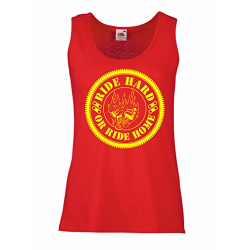 lepni.me tanktop voor dames Ride Hard! Biker Clothing