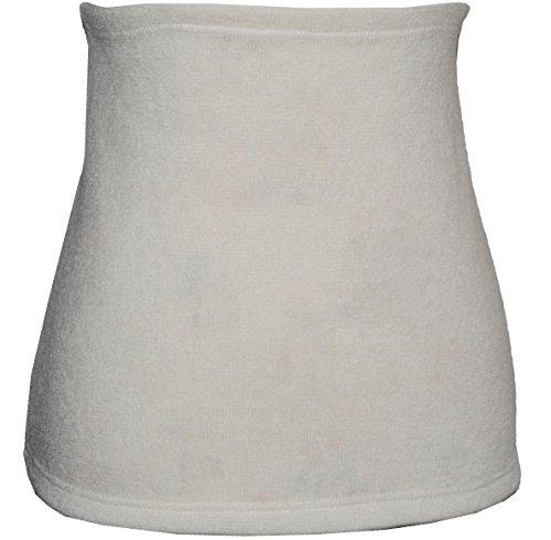 Belldessa Angora Wolle - Creme - Nierenwärmer / Rückenwärmer / Bauchwärmer - Größe: Kinder 4-6 Jahre - ideal auch für Blasenentzündung und Hexenschuss / Rückenschmerzen