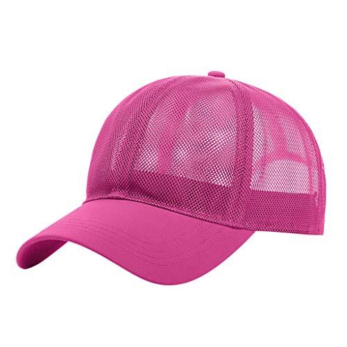 jieGorge Hat,Fashion Unisex Men Women Tie-dyed Sun Hat Adjustable Baseball Cap Hip Hop Hat Sales (Hot Pink)