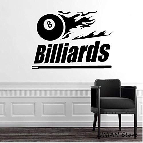 Wall Sticker Billiards, sports, recreation Waterproof Wall Paper for Bedroom Living Room TV Background Decor Mural Art Decal Home Decor 56x77cm