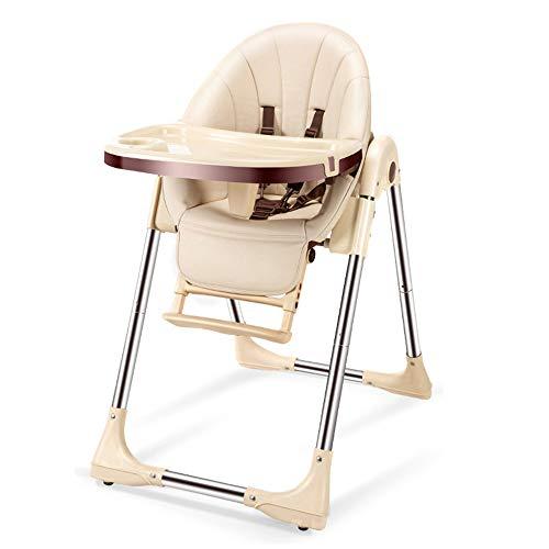 SDWP Kinder-Esstischstuhl Multifunktionssitz Klappbarer Tragbarer Baby-Esstisch Mit Stühlen Rutschfester Kinder-Esstischstuhl (Color : Beige)