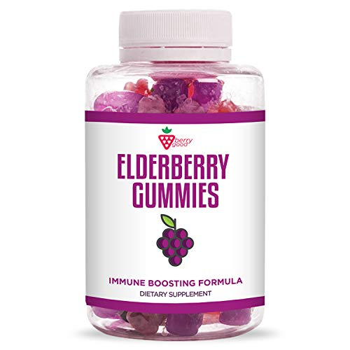 Berry Good Sambucus Elderberry Gummies - with Vitamin C, Elderberry, Zinc - for Healthy Immune System Support - Natural Ingredients - Made with Plant-Based Pectin - 30 Gummies