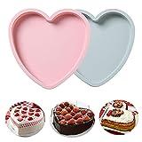TROYSINC 8 Zoll Kuchenform,Herzförmige Silikonform,Herz Großes...