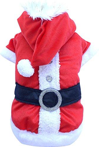 Doggy Dolly ST001 Hundemantel Weihnachtsmann, rot, Größe : L