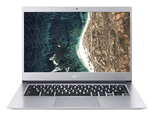 Acer Chromebook 514 |CB514-1H - Ordenador portátil de 14' FHD IPS LED (Intel Pentium QC N4200, 8 GB de RAM, 64 GB eMMC HDD, Intel HD 505, Chrome OS) Plata - Teclado QWERTY Español