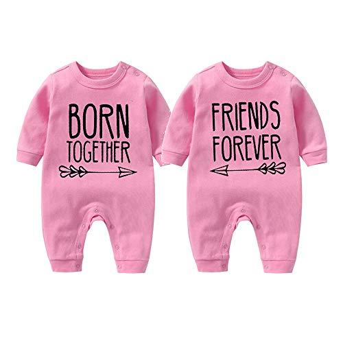 culbutomind Beste Freunde Für Immer Fun Baby-Strampler Baby Geschenke Geburt Erstausstattung (Rosa, 0-3 Monat)