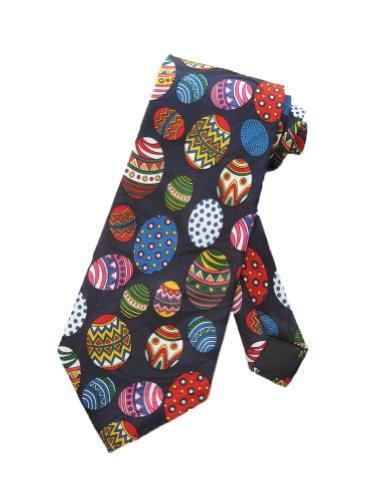 Steven Harris cravate oeufs de Pâques - bleu - taille unique