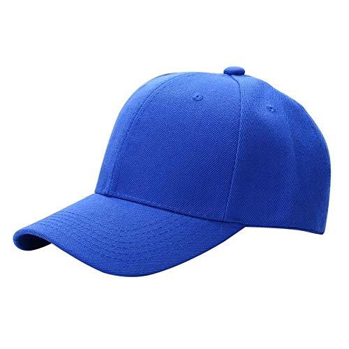 XCLWL Capmänner vrouwen normale lak baseballmuts gebogen vizierhoed verstelbare maten-nylon bevestigingsband-casual hoed