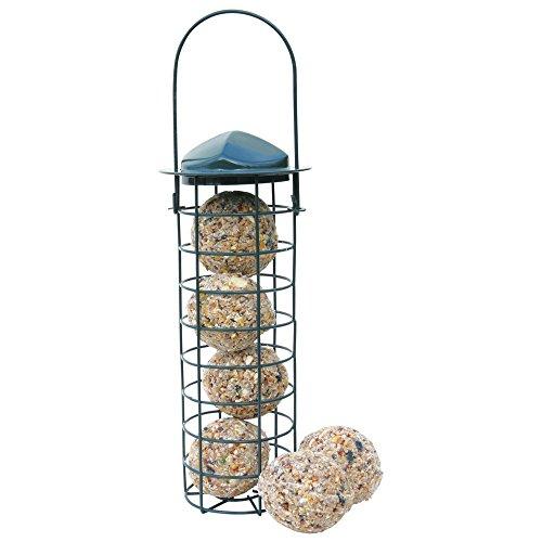 Cj Wildlife-Mangiatoia per uccelli per palle di grasso, 33 cm, colore: Verde