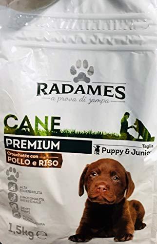 RADAMES Premium 1,5 kg - Crocchette per Cane con Pollo e Riso - Taglia Puppy & Junior (A Prova di Zampa)