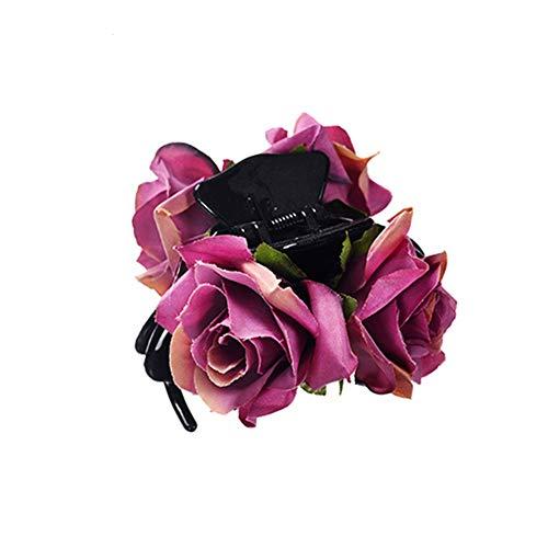 Diademas Y Cintas Para El Pelo Adornos Para El Pelo Belleza De Las Mujeres Floral Pinza De Pelo Con Encanto Rosa Garras De Pelo Horquilla Para Dama Banquete De Boda Accesorios De Cangrejo De Pelo Feme