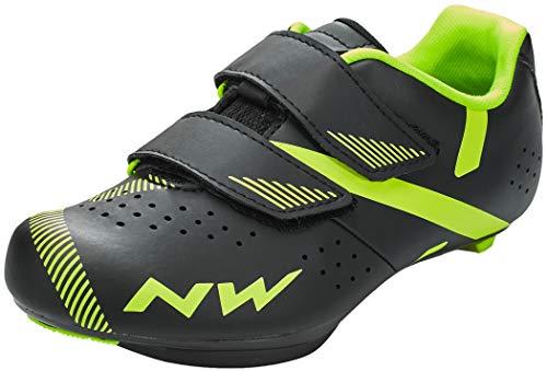 Northwave Torpedo 2 Junior Kinder Rennrad Fahrrad Schuhe schwarz/gelb 2020: Größe: 38