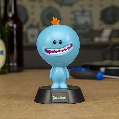 Rick and Morty Mini Leuchte Mr. Meeseeks schwarz/blau, bedruckt, aus Kunststoff, in Geschenkverpackung.