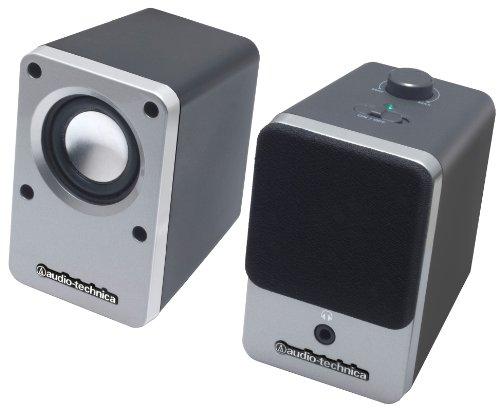 オーディオテクニカ デスクトップスピーカー シルバー AT-SP102 SV