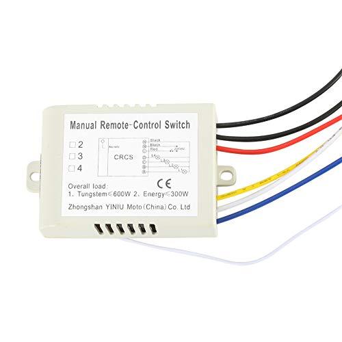 Keine Verkabelung Mini-Fernschalter, 180-240V 3-Wege-ON/Off-LED-Lichtlampe Kein WLAN erforderlich für Deckenleuchten Ventilatoren Lampen für den sofortigen Einsatz