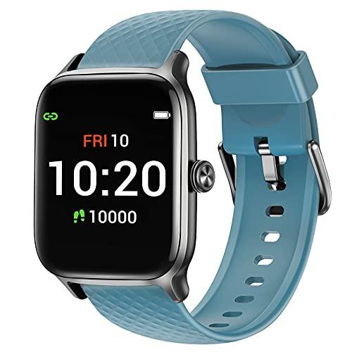 Letsfit Smartwatch für Damen Herren, Fitness Tracker Armbanduhr mit Pulsuhr Schlafmonitor und Blutsauerstoffsättigung, Fitnessuhr mit Schrittzähler, 5ATM Wasserdicht Sportuhr Smart Watch