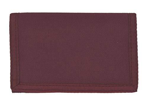 Uomo miniportafoglio/ilportafoglio, lino, chiusura in velcro, con catenella e clip per cintura, tinta unita