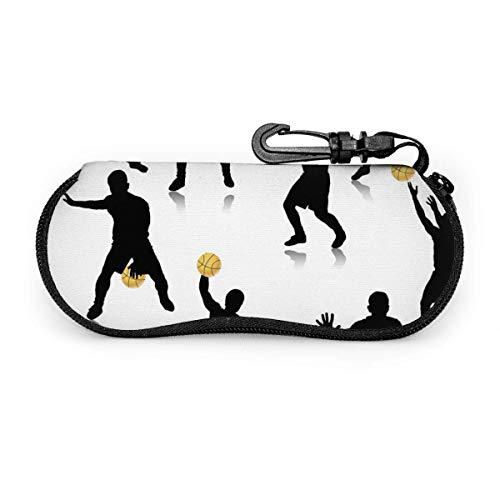 Arvolas Jugador de baloncesto jugando silueta de acción Estuche portátil para anteojos Estuche protector para gafas resistentes a la abrasión