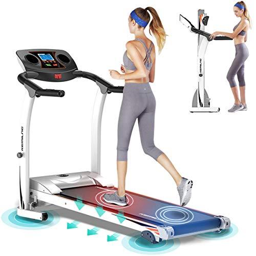 XXzhang Cinta de Correr Plegable 2.0HP, máquina de Ejercicios de Aptitud Cardio para Caminar, Trotar y Correr.