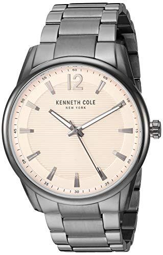 Kenneth Cole New York Reloj clásico para hombre de cuarzo japonés con correa de acero inoxidable, gris, 20,6 (modelo: KC50688002)