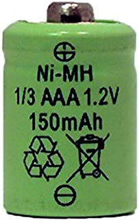 8 X 1/3 Aaa 150 Mah Nimh Batteries - Button Top (For Solar Lights)