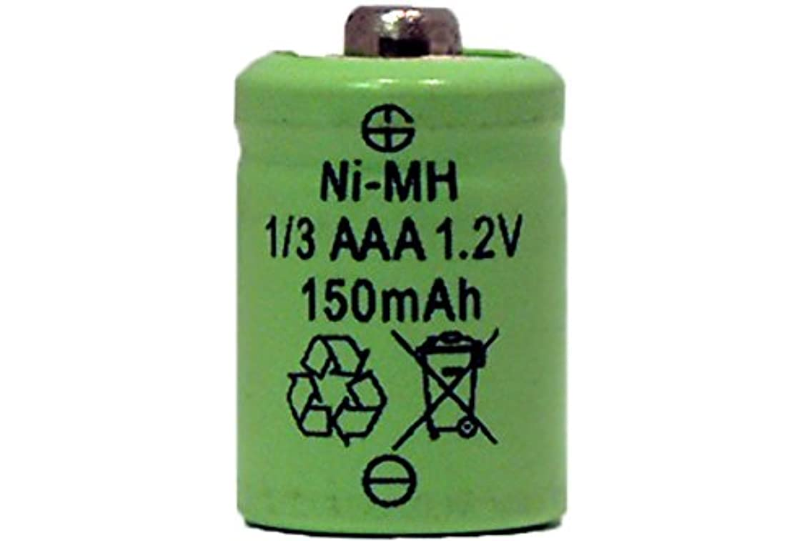 1/3 Aaa 150 Mah Nimh Battery - Button Top (For Solar Lights)