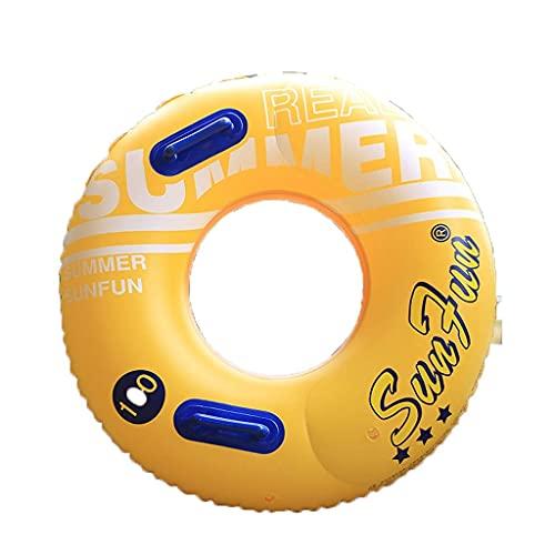 Schwimmreifen Schwimmring Verdickung Kinder Erwachsene Männer und Frauen Aufblasbare Rettungsring Große Schwimmreihe [Doppela Airbag, Lenker, Safety Seil] Geeignet für 55~110 kg Personen