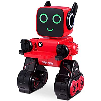 Costzon Remote Control Robot Toy, Wireless RC Robot Senses Gesture, Sings, Dances, Talks, and Teaches, Programmable and Rechargeable Smart Robot Kit for Kids Boys and Girls