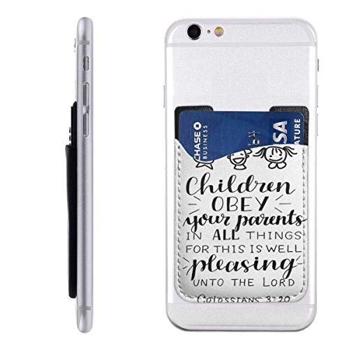 Interieur Shop portemonnee voor mobiele kaarten portemonnee ID-kaartenvak kaartenvak handbeschildering kinderen gehoorzaamheid voor hun ouders in alle zaken.