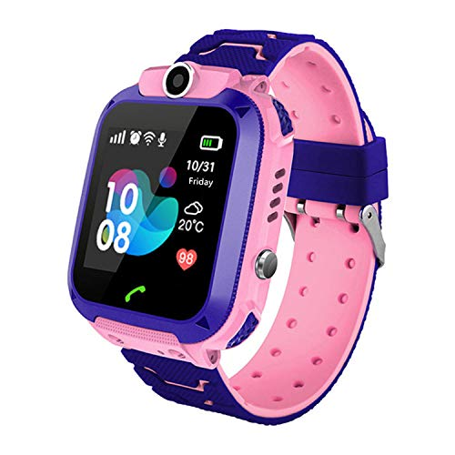 Zqtech Smart Watch for Kids GPS Tracker - IP67 Waterproof Smartwatches with SOS Voice Chat Camera Alarm Clock Digital Wrist Watch Smartwatch Girls Boys Birthday Presents