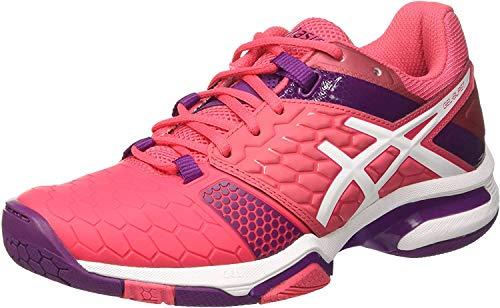 ASICS Damen Gel-Blast 7 American Handball Schuhe, Mehrfarbig (Rouge Red/White/Prune), 37 EU