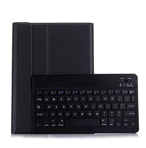 hangong Concise Smt595 T590 T595 Tablet Leather Cover Bluetooth Keyboard Light Backlit Keyboard Case For Samsung Galaxy Tab A 10.5 2018 Smt590 (Color : Black)