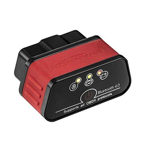 KONNWEI KW903 ELM327 WiFi ODB2 Codeleser Diagnosegerät für iPhone Android PC Auto Code Scanner (rot + schwarz)