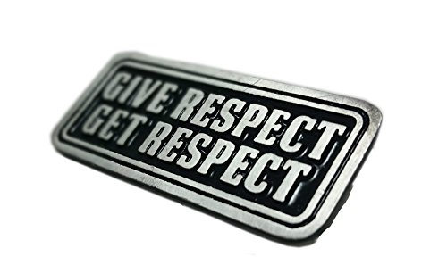 Daywalker Bikestuff Biker Pin Give Respect Respekt