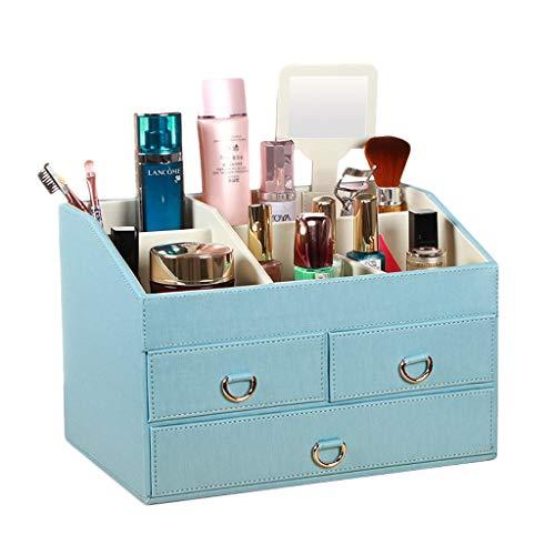 Boîte de Rangement cosmétique (Color : Blue)